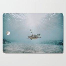 sea turtle iii Cutting Board