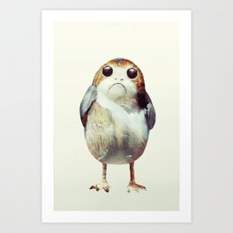 Porg on Ahch-To Art Print