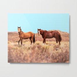 Horses #society6 #decor #buyart Metal Print