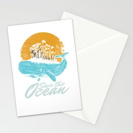 Ocean Day Marine Aquatic Animals Save The Ocean Sea Life Gift Stationery Cards