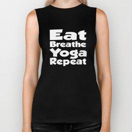 Eat Breathe Yoga Repeat Gift Biker Tank