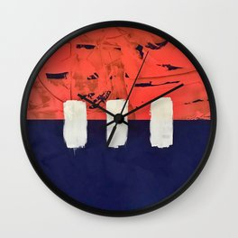 Stitch in Time - line graphic Wall Clock
