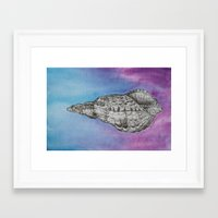 shell Framed Art Prints featuring shell by Diane Nicholson