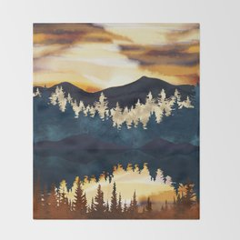 Fall Sunset Throw Blanket