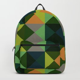 Oiwa - Colorful Green Decorative Abstract Art Pattern Backpack