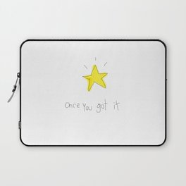 kid wanna say something... Laptop Sleeve