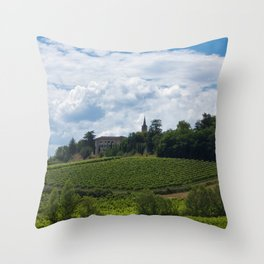 vineyards in France Throw Pillow