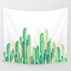 cactus vertical Wall Tapestry