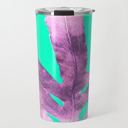 Lavender Fern on Mint Green Winter Wonderland Travel Mug
