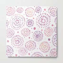 Abstract watercolor sparkles – pastel pink and ultra violet Metal Print
