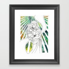 Timid Heart Framed Art Print