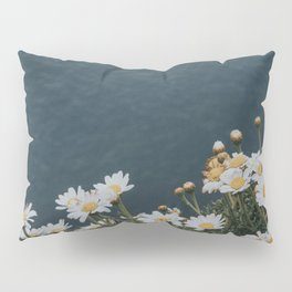 Ocean & Daisies - Landscape and Nature Photograph Pillow Sham