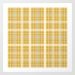 Fall 2016 Designer Color Mustard Yellow Tartan Plaid Check Art Print