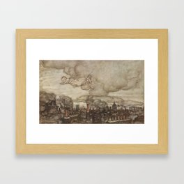 Arthur Rackham (1907) - Away he flew Framed Art Print