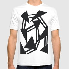 Race White MEDIUM Mens Fitted Tee