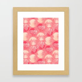 Pink Tropical Coins #society6 #decor #buyart Framed Art Print