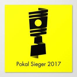 Pokal Sieger 2017 ! - Black Edition Canvas Print