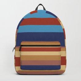 Retro 70s Vintage Surfer - Blue Sand Backpack