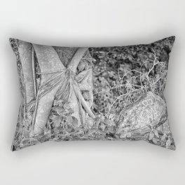 Strangler fig and boulder in the rain forest Rectangular Pillow