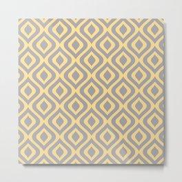 Mid Century Modern Diamond Ogee Pattern 158 Metal Print