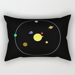 Solar System - Minimalism Abstract Pastel Colours Rectangular Pillow