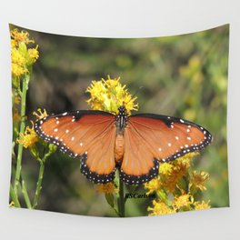 Queen Butterfly on Rubber Rabbitbrush in Claremont CA Wall Tapestry