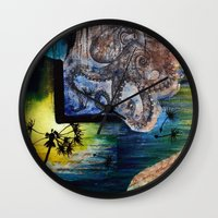 literary Wall Clocks featuring Literary Octopus by Sarah Sutherland