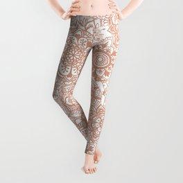 Rose Gold Mandala Pattern Leggings