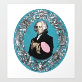 John Adams with Ham Art Print