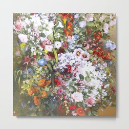Spring riot of flowers - Courbet inspired Metal Print