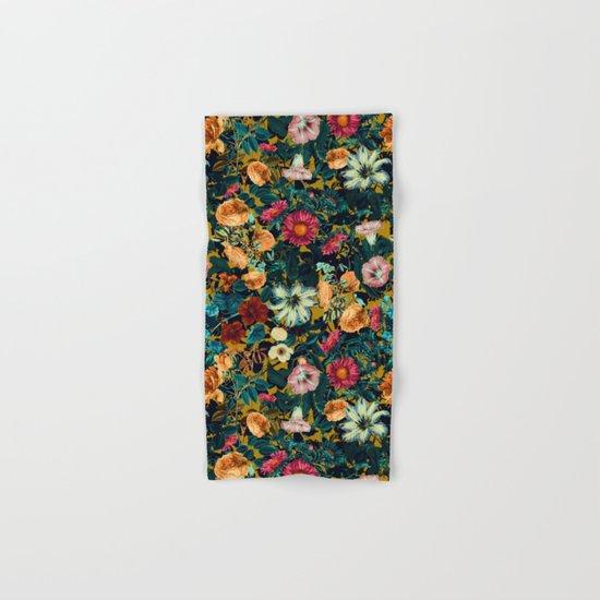 Floral Pattern Winter Garden Hand & Bath Towel
