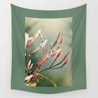 jasmine Wall Tapestries featuring Pink Jasmine by Strange Charm