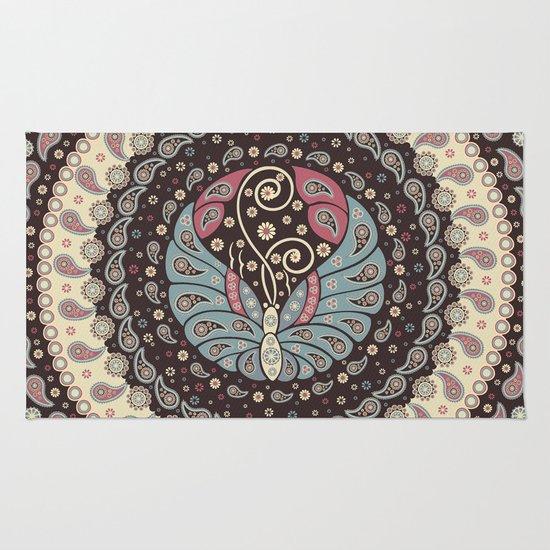 Butterfly Mandala Rug