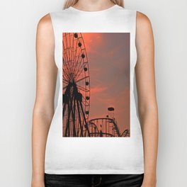 Sundown in Fun Town Biker Tank