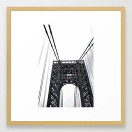 George Washington Bridge Love. Framed Art Print