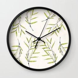 Bamboo Shoot Wall Clock