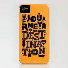 Orange Journey Quote Slim Case iPhone (4, 4s)