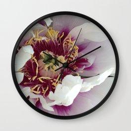 Violet peony Wall Clock