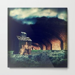 And all my dreams are underground. Metal Print