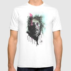 RIOT girl Mens Fitted Tee MEDIUM White
