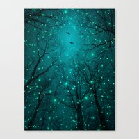 geometric Canvas Prints featuring One by One, the Infinite Stars Blossomed by soaring anchor designs