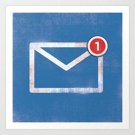 You've got email :) Art Print