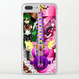 Sailor Mew Guitar #64 - Sailor Pluto & Mew Ichigo Clear iPhone Case