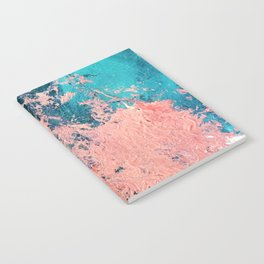 Coral Reef [1]: colorful abstract in blue, teal, gold, and pink Notebook