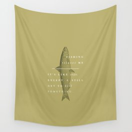P + R Fishing Wall Tapestry