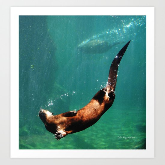 Everybody Otter Have Shiny Bubbles Art Print