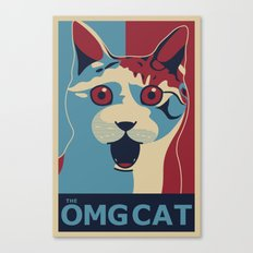 ✩ The OMG Cat Poster Canvas Print