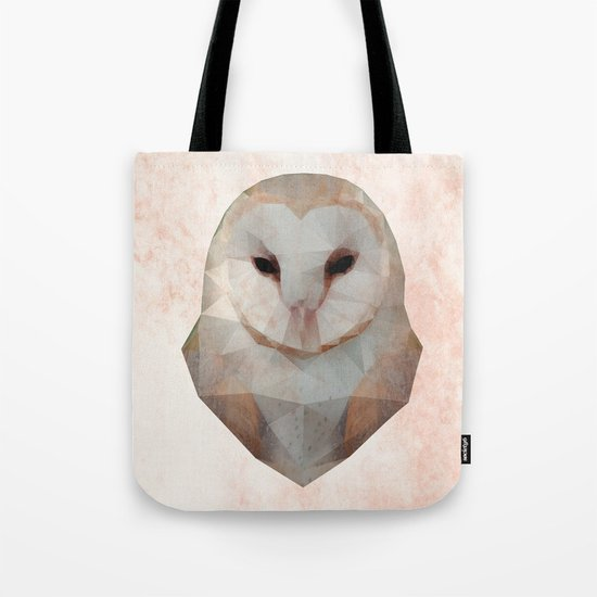Barn Owl Triangle Tote Bag