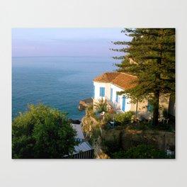 Amalfi Coast Villa Canvas Print
