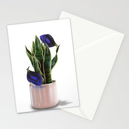 Blue Tang & Snake Plant Stationery Cards